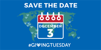 Save the Date flyer Giving Tuesday December 3 2019