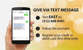 Give to EAST via Text Message to 312-668-0301 flyer